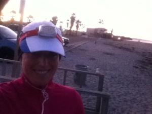 During my 11 mile pre-dawn freezing run this week
